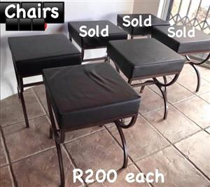 3 Black chairs for sale