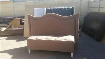 King size headboard and ottoman on Special