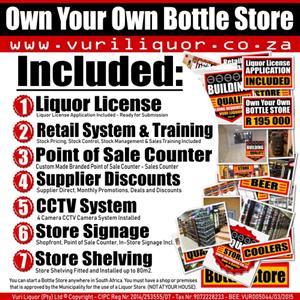 Bottle Stores for Sale - Liquor License Application Included