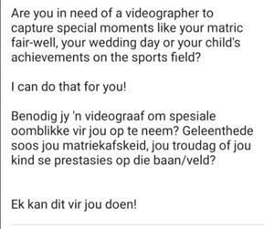 Professional Videographer/Photographer