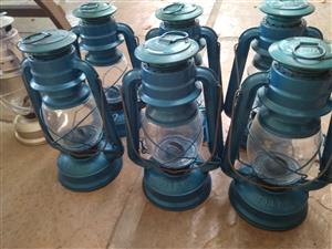Parafin lanterns set of 7