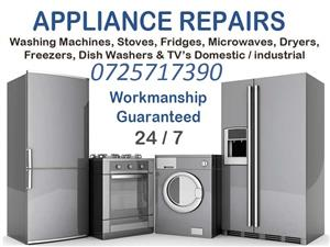 Washing Machine Repairs, Fridge Repairs, Stove Repairs, Tumble Dryer Repairs, Microwave Repairs, TVs