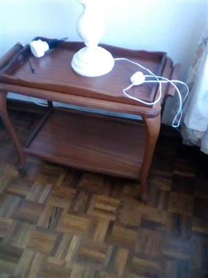 WOODEN SHELF TABLE FOR SALE