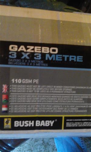Gazebo Bush Baby 3m x 3m.