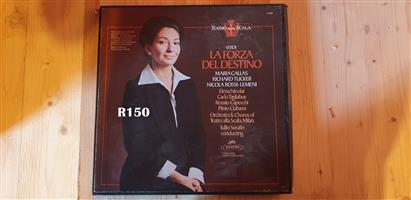 Collection of 3 LP'S of Verdi La forza Del Destino