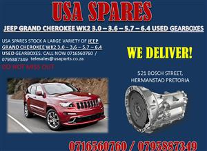 JEEP GRAND CHEROKEE WK2 3.0 3.6 5.7 6.4 USED GEARBOXES- FOR SALE-