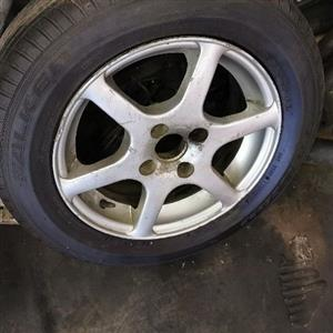 13 inch mag rim with tyre