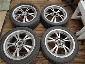 "17"" 5/120 pcd wheels + tyres"