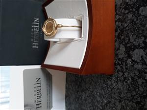 Michel Herbelin Model No. 7002 Ladies Bangle Watch