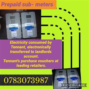 Electricity prepaid sub meters