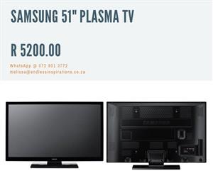 "SAMSUNG 51"" PLASMA TV FOR SALE"