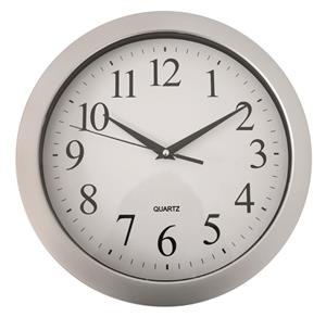 Silver and white wall clock!!  Best Buy!!!