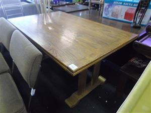 Oak Wood Dining Room Table