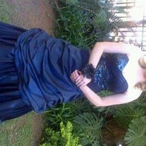 Midnight Blue Matric Farewell Dress for sale