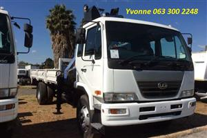 2008 Nissan UD100 4X2 Dropsides with PM14 Crane For Sale
