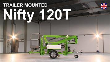 Niftylift Nifty 120T Trailer Mount Access Platform 12 meter working height Cherry Picker