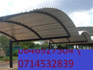 Carports for new installations for industrial parkings ,car wash sheds, also home sheds with affordable prices contact us today for more information