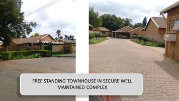 IMMACULATE & SPACIOUS 2 bedroom town house in the northern suburbs of Pretoria.
