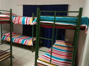 METAL BUNK BEDS TOP AND BOTTOM BUNK WITH LADDER R2000 MUST GO TOO MUCH IN STOCK