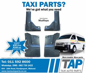 Toyota Quantum MUDFLAPS - quality used Left, Right, Front and Rear Mudflaps - Taxi Auto Parts - TAP