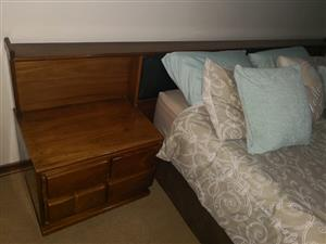 Queen sized headboard.