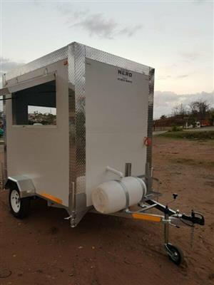 Food trailer, mobile refrigerator, vip toilets