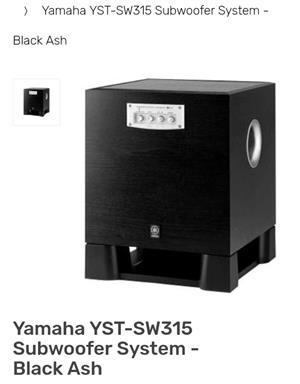 YAMAHA YST-SW315 SUBWOOFER SYSTEM FOR SALE.