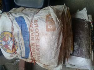 Empty 50kg flour bags
