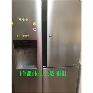 Lg side by side fridge with water and ice dispenser
