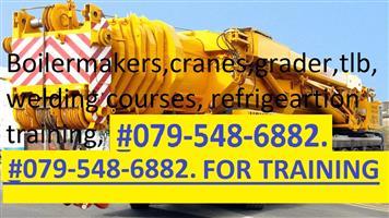 MINING MACHINERY, GRADER, CRANES, DUMP TRUCKS, @0820651581. BOILERMAKER, WELDING COURSES. TRADE TEST.