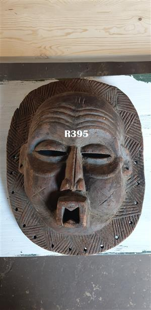 Lion Man Traditional Wooden Mask (470x370)