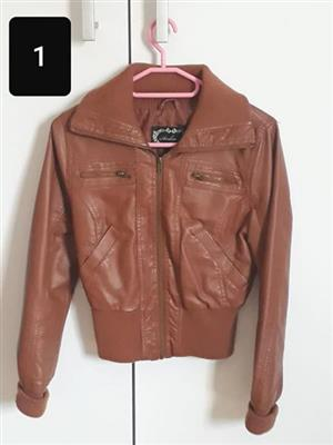 Brown leather jacket for sale