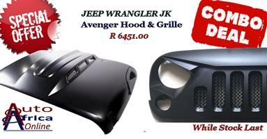 COMBO DEAL Avenger Hood and Grille Jeep Wrangler JK ONLY 3 SETS LEFT