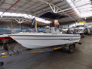 swift 190 on trailer 2 x 60 hp yamaha