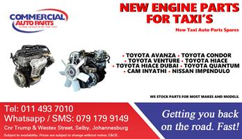 Engine Parts and Spares for Sale for Taxis.