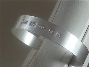 1 oz hallmarked gents flat torque bangle made in London Ltd Edition