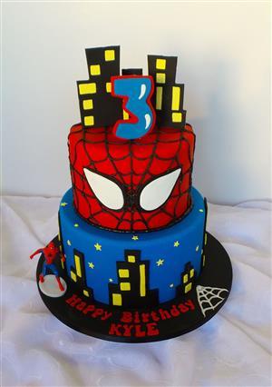 SPIDER-MAN CAKES, BIRTHDAY CAKES, ANNIVERSARY CAKES, WEDDING CAKES, THEMED CAKES