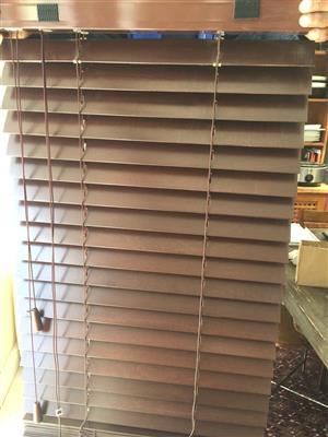 Shademaster Wooden Mahogany blinds - As New and unused - Dark brown wood - 50mm slats
