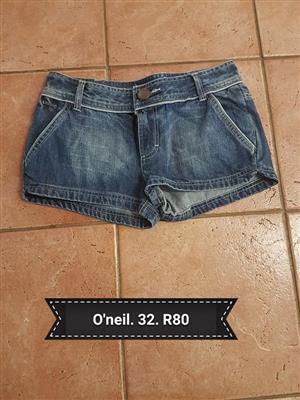O Neil 32 denim shorts for sale