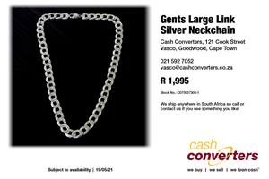 Gents Large Link Silver Neckchain