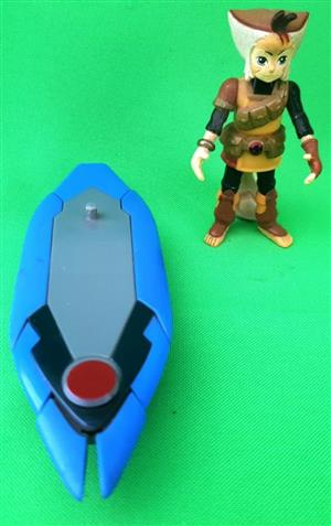 Blue boat and figurine for sale