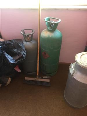 2 Gas bottles and a broom