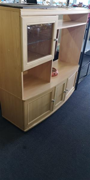Wooden 3 Door TV Cabinet