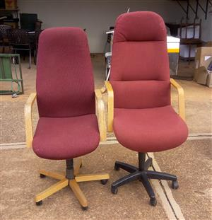 Two office chairs for sale at R150 each