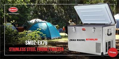 Black Friday DEALS-SMDZ-EX75Stainless Steel Fridge Freezer-save R1200