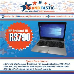Powerful HP ProBook i5 Laptop @ R3790
