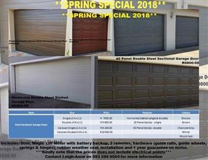 Steel Sectional Garage Door Combo Special