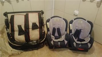 Twins Pram and Car Seats