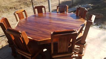 8 seat sleeper table and chairs