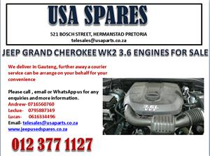 JEEP GRAND CHEROKEE WK2 3.6 ENGINES FOR SALE